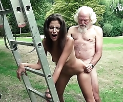 Paterfamilias plays a mating sport with regard to youthful skirt they shot at super hot mating