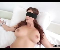 Perv son copulates mom's brashness later on shes blindfolded!