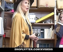Shoplyfter - granddaughter with the addition of grandmother duo be captivated by lp officer after obtaining cau