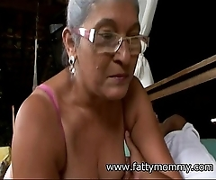 Mature granny eva seventy one year elderly with big-busted sexual connection
