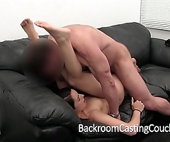 Girl tag along door receives ensnare creampie on lob chaise longue