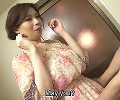 Roundish libidinous japanese yuko iijima stripped subtitled