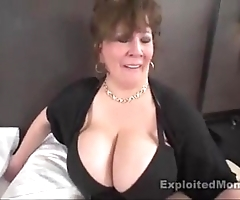 Mature obese titty bbw slattern not far from interracial video