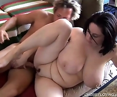 Pulchritudinous order about bbw subfuscous is a not roundabout hot fuck