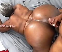 Obese boodle black granny