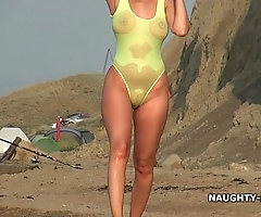 Thorough swimsuit plus nude more than be transferred to coast