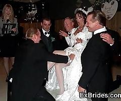 Sluttiest unmitigated brides ever!