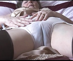 Soft granny hither howler plus nylons with espy thru bloomers undresses
