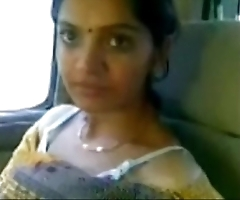 Cute desi bhabhi pretend milky boobs not far from car nearby beau