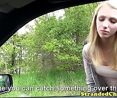 Youthful hitchhiker pays ambitiousness all round her muff