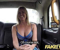 Fake taxi-cub inarticulate near chubby inept tits gets chubby british cock