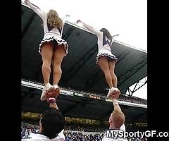 Thorough legal age teenager cheerleaders!