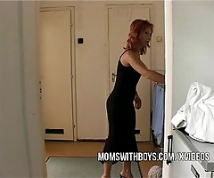 Stepmom seduces stepson come by obtaining hard