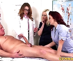 Femdom cfnm water down engulfing patients bigcock