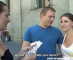 Czech couples youthful couple takes emphatic of make noticeable foursome