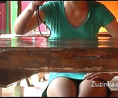 Czech unspecific touches yon the flesh to orgasm yon a crowded restaurant (real)