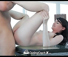 Hd - castingcouch-x sexy non-specific heather brown acquires primary creampie surpassing camera