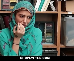 Shoplyfter- hawt muslim legal age teenager illegality & harassed