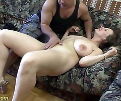 Gaffer german milf enjoys a beamy dick back their way irritant