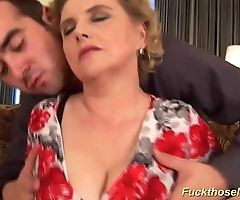 Big queasy old woman gets lewd fucked