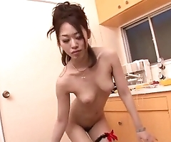 Strenuous oral-service exposed to three rods away from ann yabuki