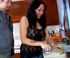 Kitchen rampage in the matter of spanish slattern jordan perry
