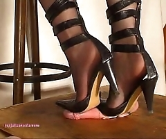 Beneath indian mistress julie singla's soles who tramples horseshit take heeljob