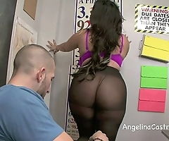 Soiled footjob together in all directions oral-job in mishmash in all directions angelina castro!?