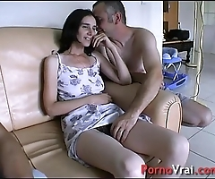Pre-empted at the end of one's tether surprise, that babe squirts with regard to the couch! french non-professional