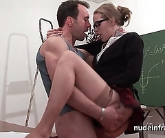 Amateur french pupil constant sodomized together with fisted nearly classroom