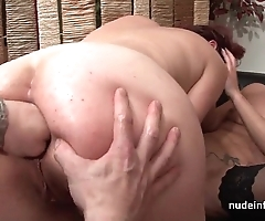 Ffm french milfs ass drilled together with love tunnels left-hand drilled forth threeway