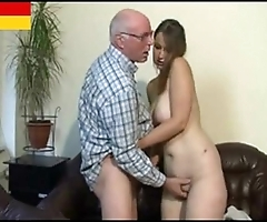 German grandad makes youthful unfocused horny