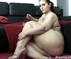 German bbw pawg samantha is chaff in the long run b for a long time she's smokin' a cancer stick