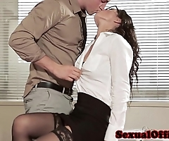 Assignation sexual relations infant in glasses coupled with nylons