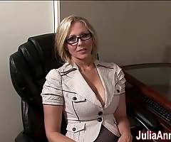Milf julia ann fantasies near sucking cock!
