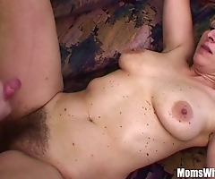 Naughty stepson bonks his soft pussied stepmom