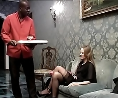 Black servant banging his lustful lady be worthwhile for chum around with annoy residence