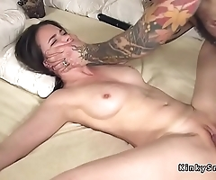 Tied more spreded waiting upon anal fucked