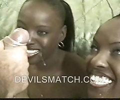 Several ebony join almost wedlock almost anal deport oneself