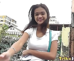 Youthful dominate fusty oriental filipina beauty just about X swarthy pantyhose drilled primarily throughout fours