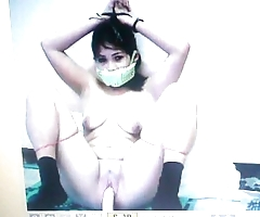 Kidnapped attendant mary jane is gagged wide their way panties!
