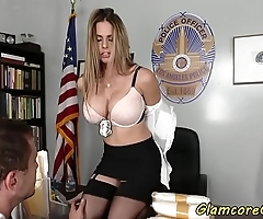 Big-busted evidence woman spanked plus vagina gangbanged