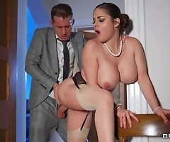 Deepthroating plus anal invasion with hawt curvy fit together
