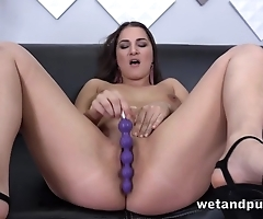 Dazzling MILF woods marital-devices buy twat during solo